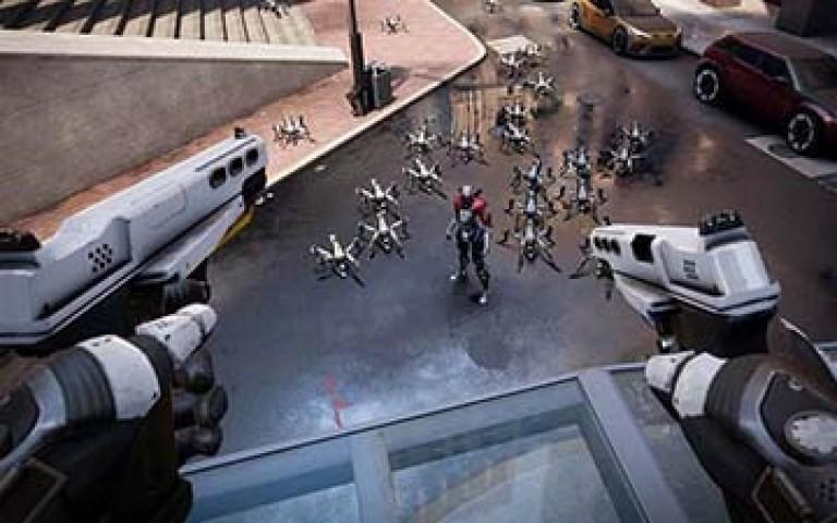 битка с роботи във виртуална реалност
